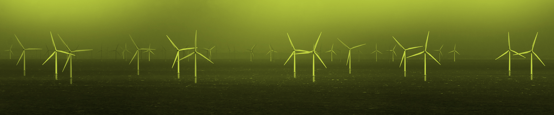 Image of an offshore windfarm